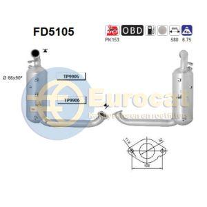 Focus II (1.6TDCi) 07/04- roetfilter cordieriet