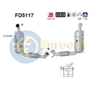 Fiesta VI (1.6TDCi) 06/08- roetfilter cordieriet (e5)