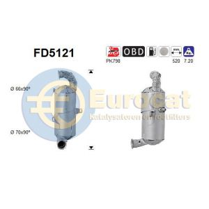 Berlingo / C3 / 208 / 308 (1.6HDi) 09/10- roetfilter cordieriet (e5)