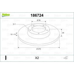 C8 / 807 (2.0I-16V/2.2I-16V/3.0I-V6/2.0Hdi/2.2Hdi) Remschijfset Achterzijde