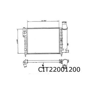 Ax (1.0/1.1/1.4) Radiateur (Met Gat Voor Niveausensor)