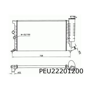 406 I / Xantia (1.6/1.8/2.0)(-AC) radiateur