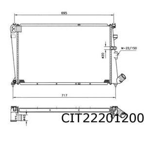 XM 6/89- / 605 9/89- (2.0i / 3.0i -4/97 / 2.1D)(+/-automaat) radiateur