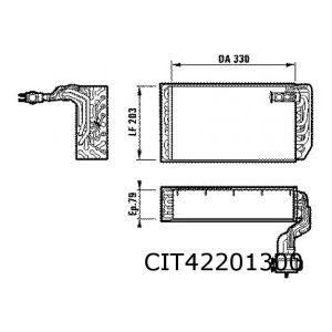 XM / 605 7/93- (R134a) verdamper AC