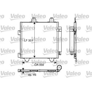107 / C1 / Aygo Condensor, Air Conditioning 359 x 351 x 16 mm