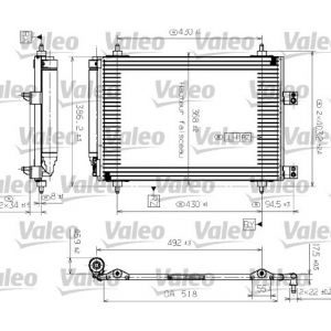 307 10/03- / C4 / C4 Picasso / Ds4 / Ds5 / 308 Condensor (Blokaansluitingen Wijzen Naar De Motor)