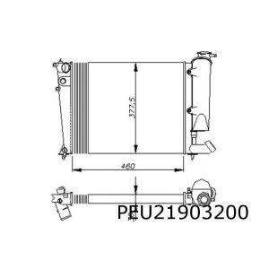 306 / Xsara -9/98 (1.1/1.4) / Zx (1.1/1.4) Radiateur (46Cm Breed)