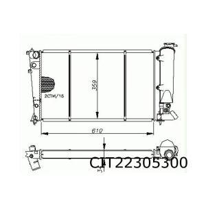 ZX 9/91-9/93 (+auto) radiateur