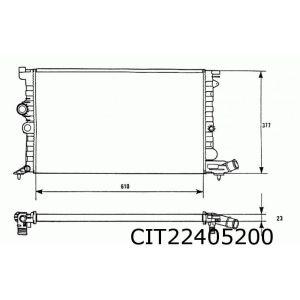 Xantia (1.9D) radiateur