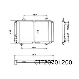 C25 / Ducato / J5 11/81- (1.9D/2.5D/2.5Td) Radiateur (66Cm Breed)
