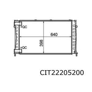 Xm II 4/97- (2.1Td) Radiateur (Snelkoppelingen)