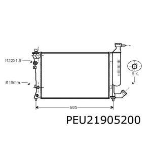 306 II 11/98- / Xsara 11/98-11/00 (1.8/2.0)(+Automaat) Radiateur