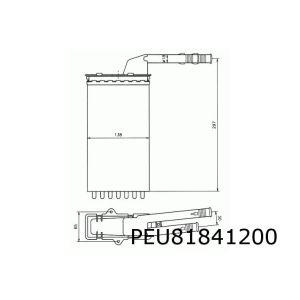 106 / Ax / Saxo Kachelradiateur (Type Behr)
