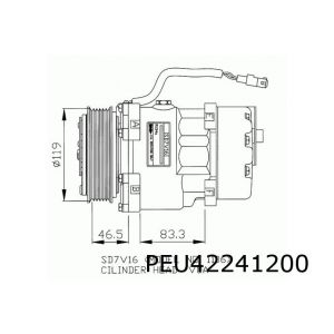 PSA / Fiat compressor AC