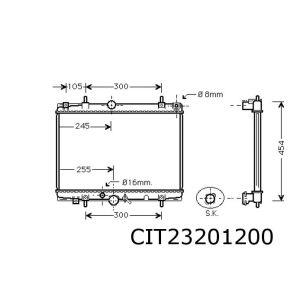 C5 2/01- (1.8-16V / 2.0-16V)(+automaat)(+/-AC) radiateur
