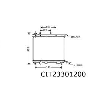 C3 / C2 (1.1I/1.4I/1.6I) (+/-Ac) / 1007 / 207 (1.4I/1.6I) Radiateur