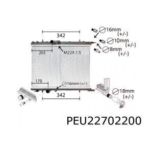 Psa (1.1I / 1.4I / 1.6I / 1.8I / 2.0I / 1.9D / 2.0Hdi)(Ook Voor Automaat) Radiateur