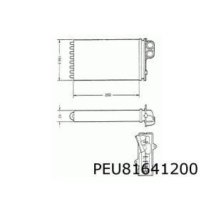 405 II / 406 -4/99 Kachelradiateur (Systeem Ipra/Valeo)