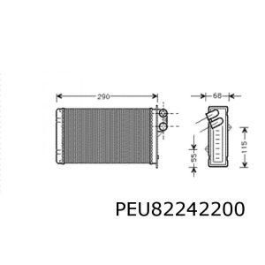 405 I/II / 406 -4/99 Kachelradiateur (Systeem Behr)