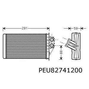 307 -1/05 (Diesel)(+/-Ac) Kachelradiateur (Magneti Marelli Systeem)