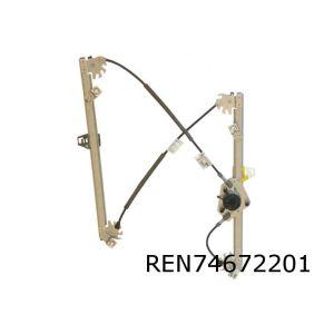 Megane II (4/5-drs.) raammechaniek L voor (elb. zonder motor)