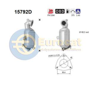 Jumper/Boxer (2.2HDi) 07/11- katalysator