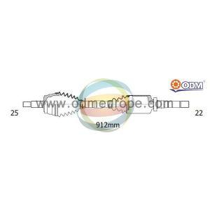 C4 / 307 (1.4i-16V / 1.6i-16V) Aandrijfas rechts