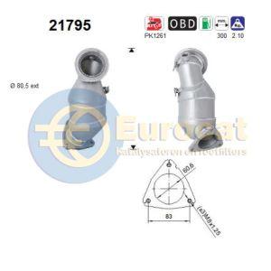 AstraH/Corsa/Meriva (1.6Turbo) 09/05- katalysator