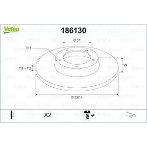 Ax / Saxo / 106 (1.0I/1.1I) Remschijfset Voorzijde 3Wb