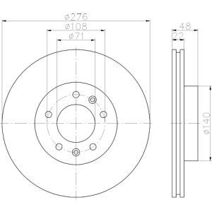Xm / 605 -3/91 Remschijfset Voorzijde