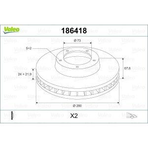 Jumper / Boxer 1000/1400 Remschijfset Voorzijde