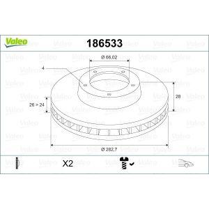 Xantia (2.0Tct/2.1Td) 406 (2.0I-16V/2.2I-16Vv3.0I-V6/2.0Hdi/2.1Td/2.2Hdi) Remschijfset Voorzijde