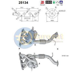 Mazda 3 (2.0i) 03/15- katalysator voorzijde