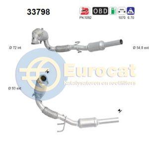 A1 / Ibiza IV / Fabia III / Polo (1.2TSi / 1.4TSi) 02/14- katalysator