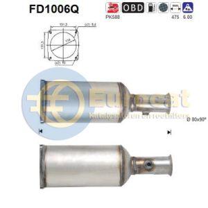 C5 I / II  (2.2HDi) 03/01-  roetfilter silicon