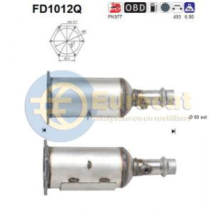 607 -8/04 (2.2HDi) roetfilter silicon