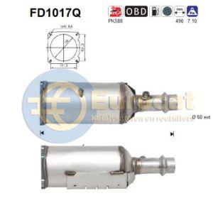 307 9/02- (2.0HDi 110pk) roetfilter silicon