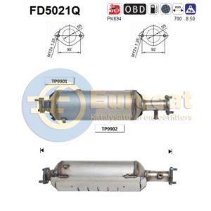 Sportage II (2.0CRDi) 01/06- roetfilter silicon