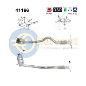147 (1.6i-16V AR37203) 10/04-01/10 katalysator