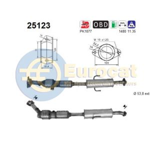 Mazda 6 (2.0i-16V MZR20) -11/09 katalysator