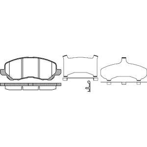 C4 Aircross / 4008 Remblokset Voorzijde