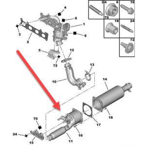 Voorkatalysator Citroen C5 III Tourer