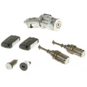 Slotenset Citroen C3II compleet. (Sleutels en cilinders).