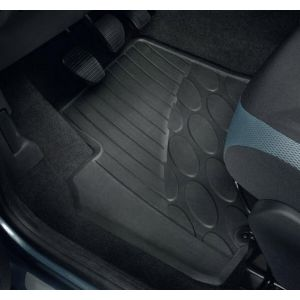 Set rubber matten voorzijde. Peugeot Partner.