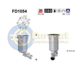 E220 (2.1 CDi) 04/06- roetfilter cordieriet