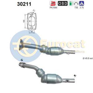 Scenic II / Megane II (1.6i-16V) 10/06- katalysator