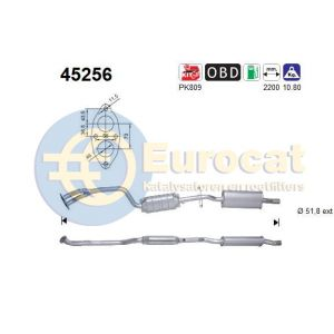 E46 9/01- (316i/318i) katalysator