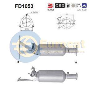 S60 I / V70 II (2.4D) 09/05- roetfliter cordieriet