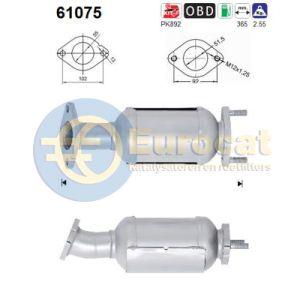 i20 / i30 / iX20 / Carens III / Venga (1.4i-16V / 1.6i-16V) 03/10- katalysator achterzijde