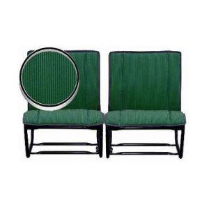 2CV Bekleding Achterstoelen Bayadère Groen [Set Van 2 Stoelen]